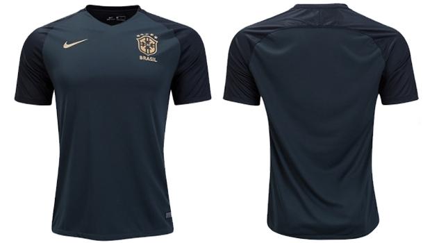 90bf9c0609 Brasil terá camisa 3 verde-escura