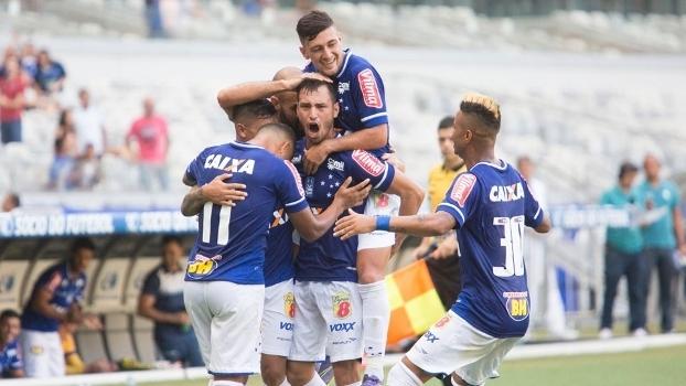 O argentino Sánchez Miño festeja gol pelo Cruzeiro c7db83f721b0d