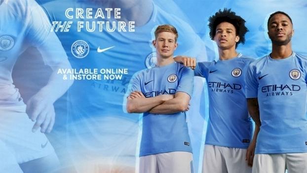 Manchester City Nova Camisa 1 31 05 2017 ef0b69890649d