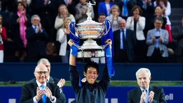 Tênis Barcelona Open Nishikori Campeão Troféu Taça Campeão