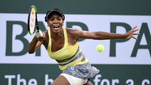 Venus Williams durante jogo em Indian Wells