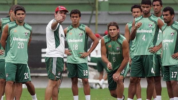 Enderson Moreira em sua primeira passagem como técnico do Fluminense em 2011