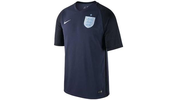 0591d3c50d Inglaterra lança nova camisa 2; estreia terá transmissão da ESPN ...