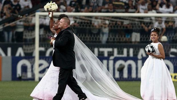 41a17f78e6 Casamento ocorreu durante o intervalo da partida válida pelo Campeonato  Brasileiro