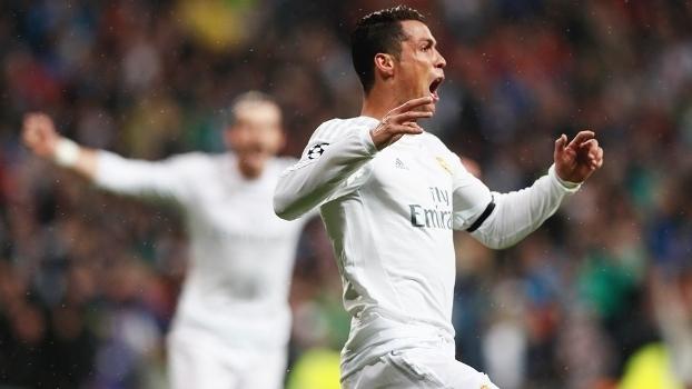 Cristiano Ronaldo Comemora Gol Real Madrid Wolfsburg Champions 12/04/2016