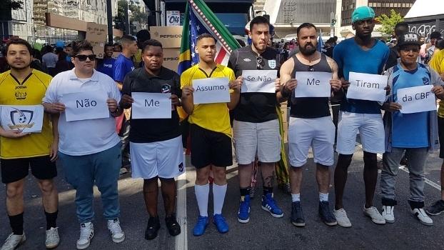 Protesto na Parada do Orgulho LGBT em São Paulo