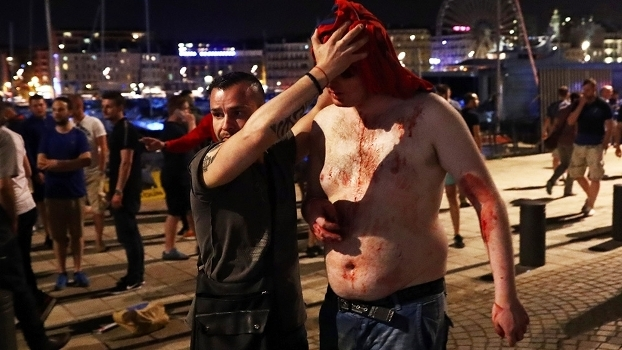 Torcida Inglaterra Briga Marselha Euro-2016 10/06/2016