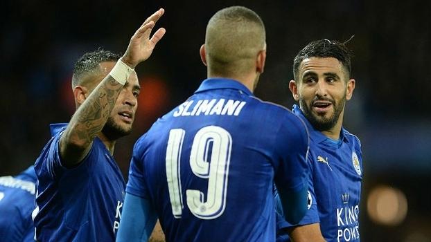 Mahrez abriu o placar para o Leicester nesta terça-feira