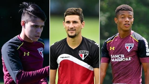 Luiz Araújo, Boschilia e David Neres, três jogadores que foram vendidos pelo São Paulo na 'Era Leco'