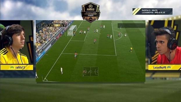 Momento de tensão na final disputada entre os brasileiros Rafael 'rafifa13' Fortes e Lucas 'LucasRep98' Gonçalves.