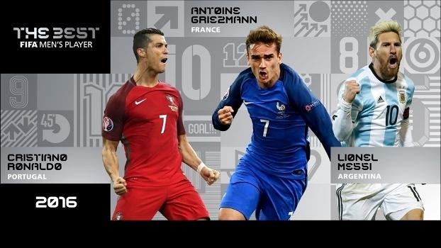 Ronaldo, Griezmann e Messi: quem será o melhor do mundo de 2016?