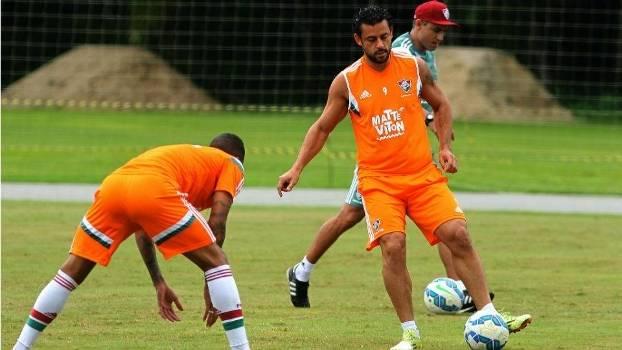Fred durante treino do Fluminense em Mangaratiba: desentendimento com técnico