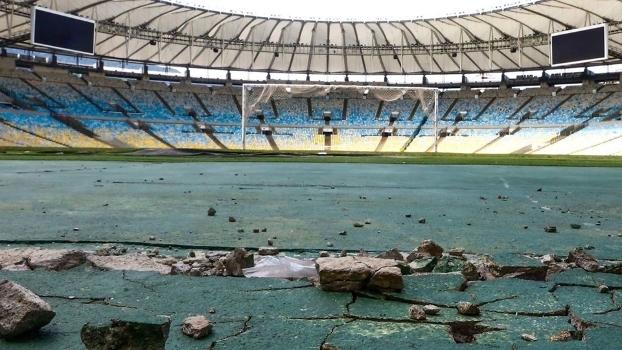 O abando no estádio pode ser visto em todo estádio