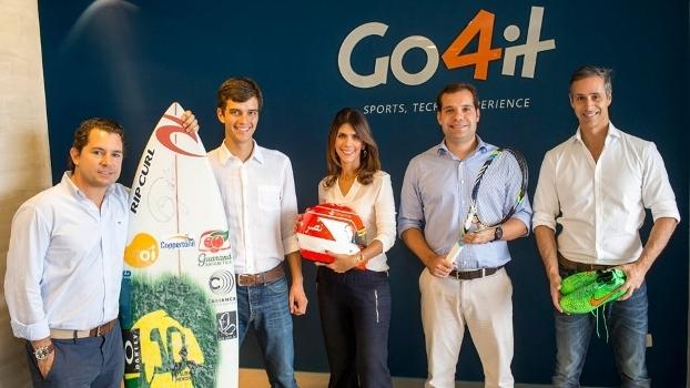Cesar Villares, primeiro da esquerda, é sócio da Go4it