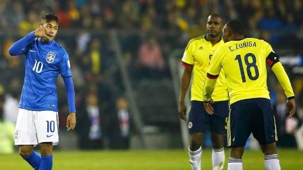 Neymar Brasil Zuniga Colombia Copa America 17/06/2015