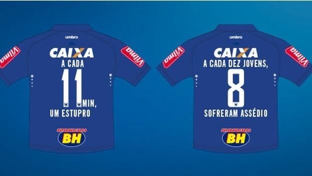 Cruzeiro inova e colocará camisas com alertas aos problemas das ... 7655304c5c0d9