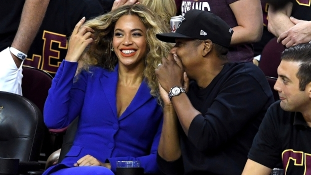 Jay Z e Beyoncé: figurinhas carimbadas no courtside, como na Final da NBA do ano passado