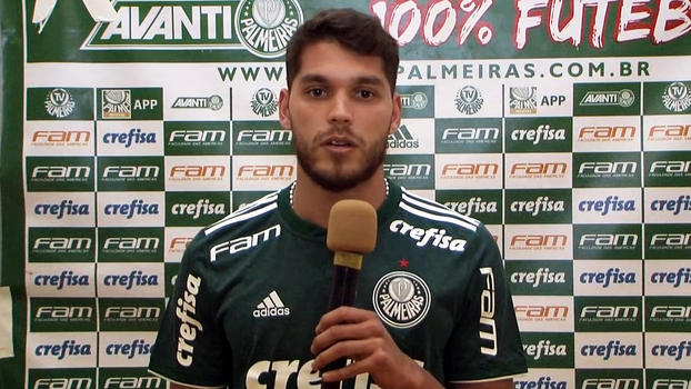 5d975d1cec Nicolas Freire responde perguntas em apresentação à torcida no canal de  YouTube do Palmeiras