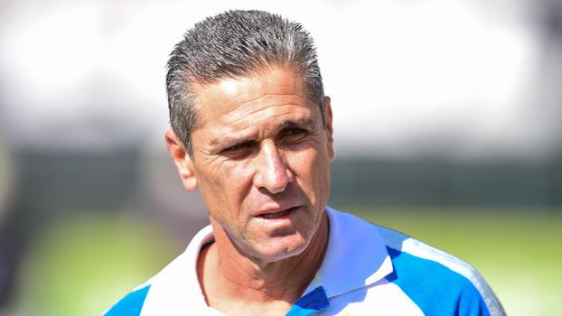 Jorginho, técnico do Bahia, durante treino: fora após 14 jogos
