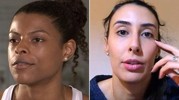 Sheilla e Fê Garay passaram por avaliação em São Paulo