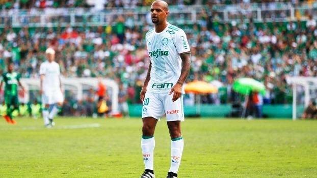 Felipe Melo em amistoso com a Chapecoense em janeiro. Palmeiras foi o que mais ajudou