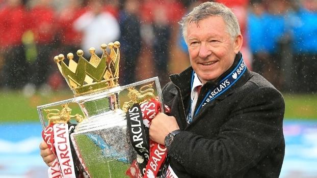 Sir Alex Ferguson foi tricampeão inglês em duas oportunidades