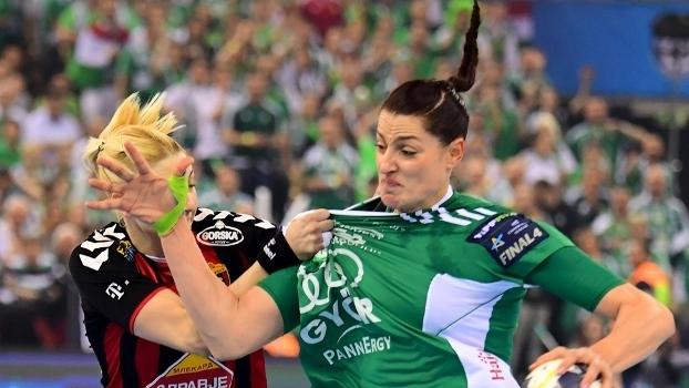 Duda Amorim na final contra o HC Vardar