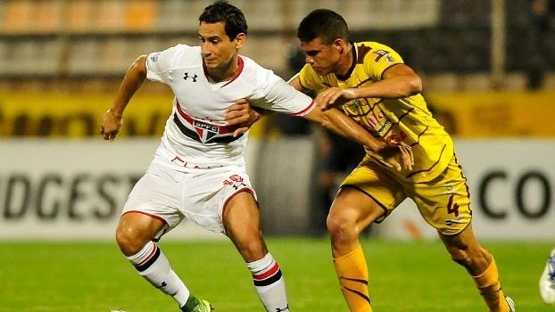 Paulo Henrique Ganso durante jogo contra o Trujillanos-VEN pela Libertadores
