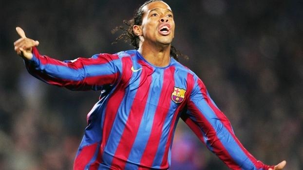 Ronaldinho durante a passagem pelo Barcelona