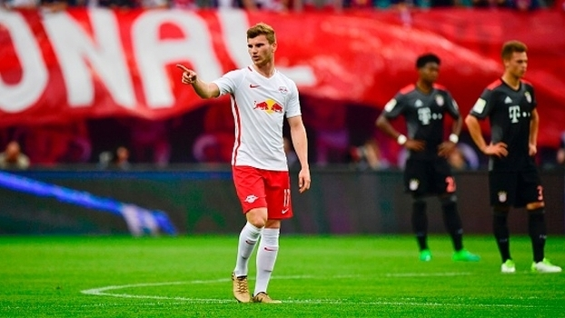 Timo Werner brilhou na derrota do RB Leipzig para o Bayern de Munique