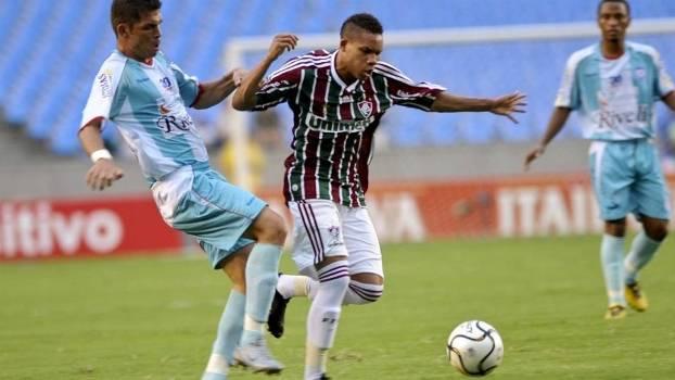 Wellington Silva fez gol em sua estreia como titular do Fluminense, diante do Friburguense, em 2010
