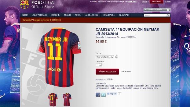 Barcelona oficializa  número 11  e coloca camisa de Neymar à venda em site  - ESPN bff6d6ff1d551