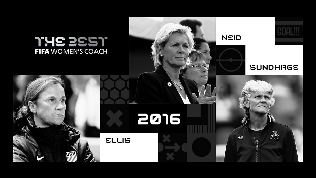Jill Ellis, Silvia Neid e Pia Sundhage: as finalistas para o prêmio de melhor técnica de 2016