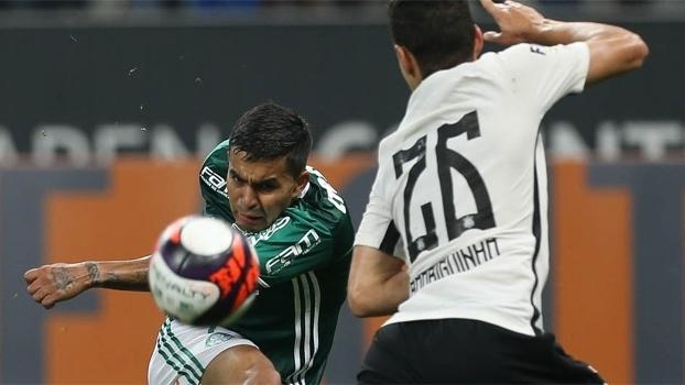 Dudu, na derrota do Palmeiras para o Corinthians no Paulista
