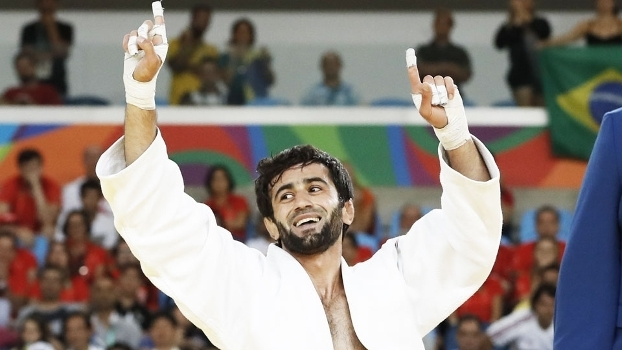 Beslan Mudranov Comemora Vitoria Judo 60kg Rio-2016 06/08/2016