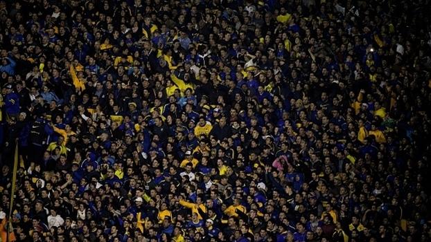 Torcida do Boca Juniors no duelo contra o Nacional-URU pela Libertadores de 2016