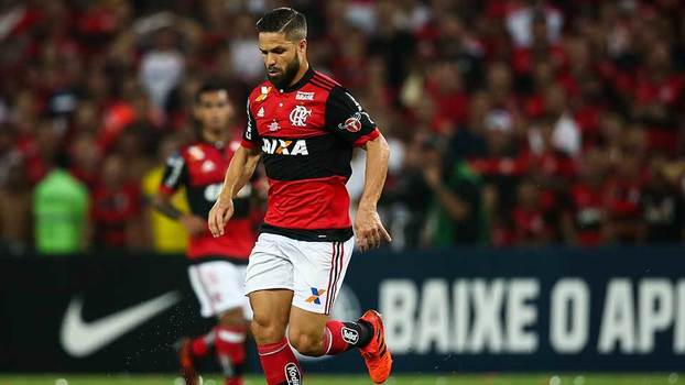 Diego, do Flamengo, na final da Copa Sul-Americana contra o Independiente-ARG no Maracanã