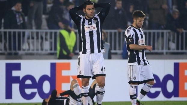 21ffddcbbfeee Partizan sofreu o gol da eliminação na Liga Europa aos 44 minutos do  segundo tempo