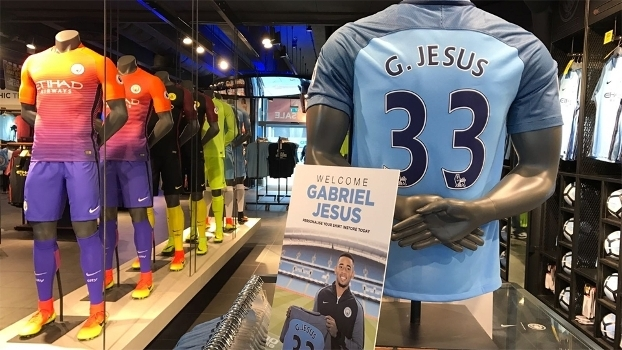 Jesus vestirá a camisa 3, a mesma que já vestia no Palmeiras