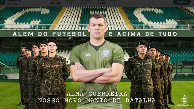 Nova camisa 3 do Coritiba é inspirada no uniforme do exército b3872745f9dd9