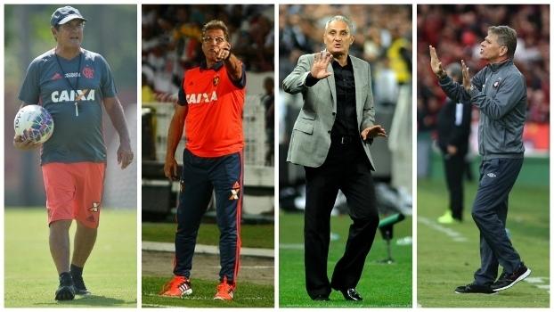 Muricy, Tite, Oswaldo de Oliveira e Paulo Autuori já foram campeões do Brasileiro