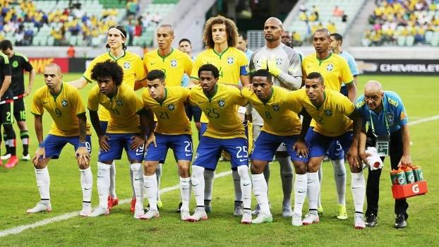 Seleção Brasileira Brasil Posado Mexico Amistoso Allianz Parque ... ad98a420f409d