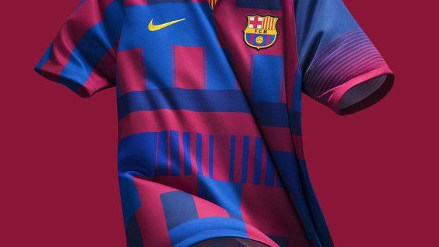 c8a2c766e367b Barcelona oficializa a  camisa mais polêmica de todos os tempos ...