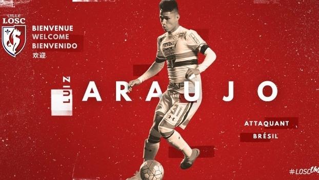 Lille oficializa contratação de Luiz Araújo, ex-São Paulo, por cinco anos
