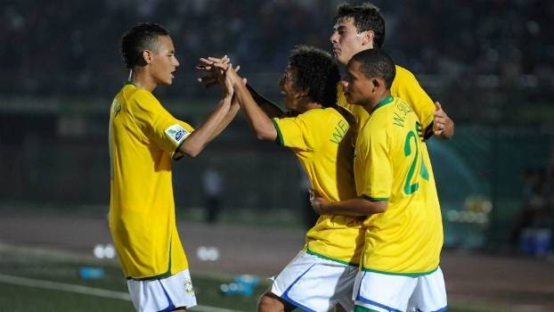 Neymar, Wellington Silva, Wellington Nem e Guilherme, no Mundial sub-17 de 2009