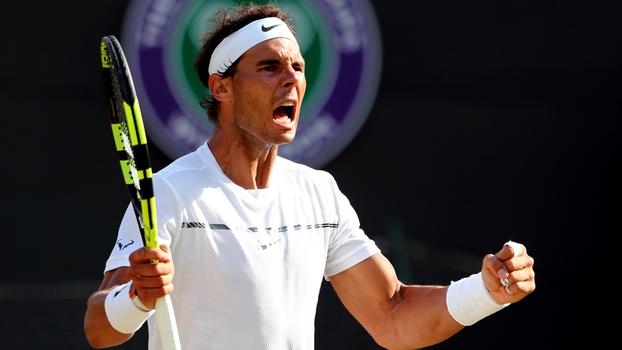 Rafael Nadal durante o torneio de Wimbledon: novo número 1 do mundo
