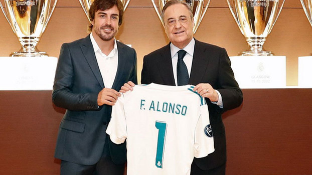Fernando Alonso se torna sócio honorário no Real Madrid