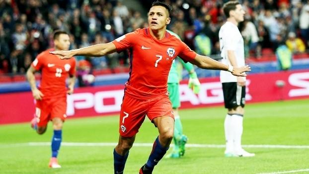 Alexis Sanchez Comemora Gol Chile Alemanha Copa das Confederações ... 5fa47de9243af