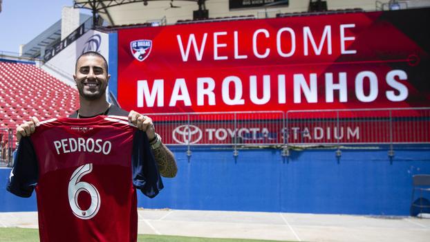 3fa83801a450e Marquinhos Pedroso foi revelado pelo Figueirense e chegou neste ano ao  Dallas