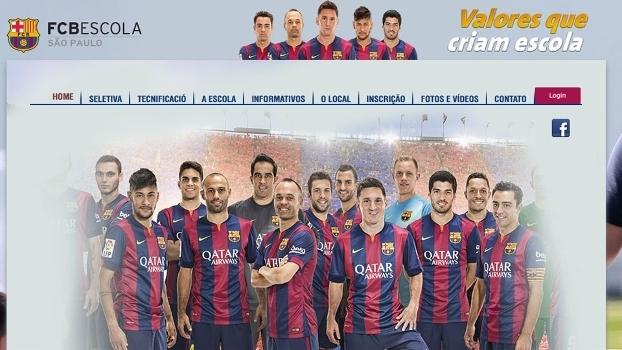 76ca0c3cfa18c Página da escolinha do Barcelona no Brasil - com jogadores que não estão ...